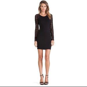 REVOLVE Parker Naomi Black Lace Long Sleeve Dress